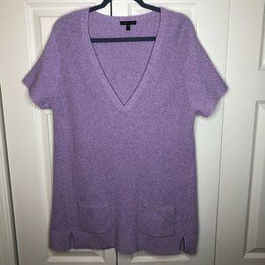 Eileen Fisher Italian Wool Silk Pocket Sweater